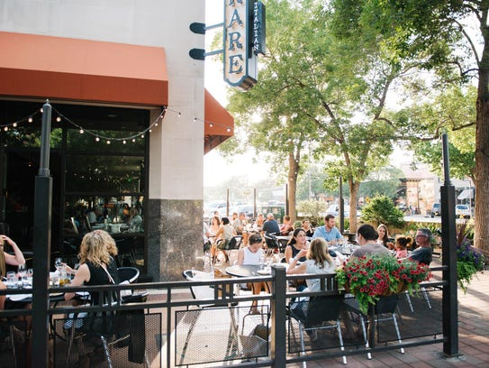 Diners enjoy the patio at Rare Italian in Old Town