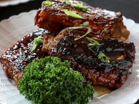 Barbecue Smoked Ribs at Martin's Southern Cuisine.