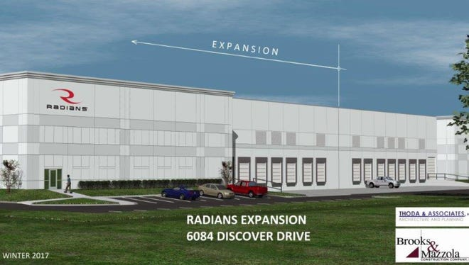 Architectural rendering of the addition to Radians.