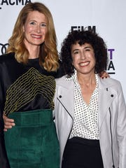 Laura Dern, left, and Jennifer Fox in Los Angeles earlier this month.