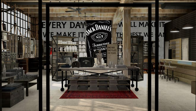 This is how architects envision Jack Daniel's new Nashville General Store in a computer rendering of the retail space.