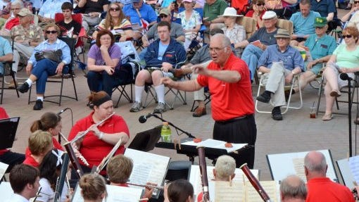 The Lafayette Citizens Band - shown here in a file photo - offers weekly concerts at Riehle Plaza.