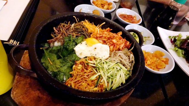 Kimchi hot stone bibimbap at Gogi.