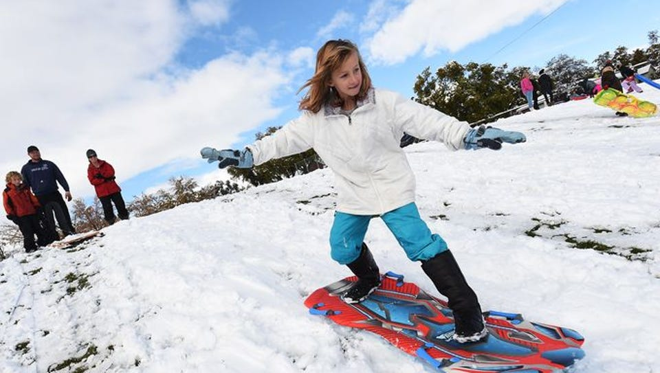 10 year old Lily Missick successfully descends a hill
