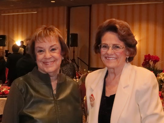 Donna Vaughn (left) and Betty Collins, both of Redding,