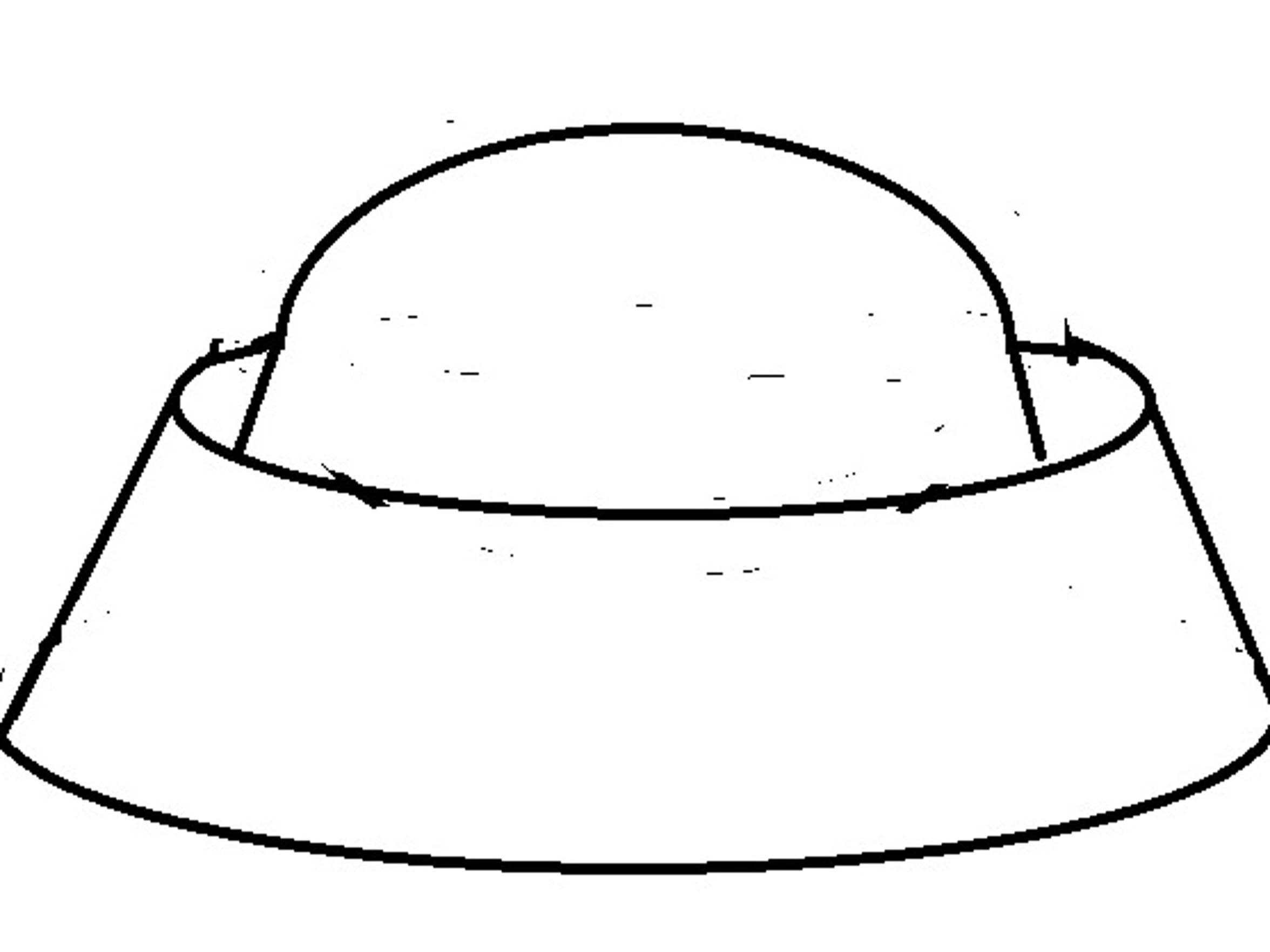A sketch of a UFO reported over Tallahassee on July