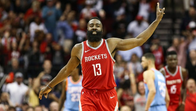 James Harden scored a team-high 24 points for the Rockets.