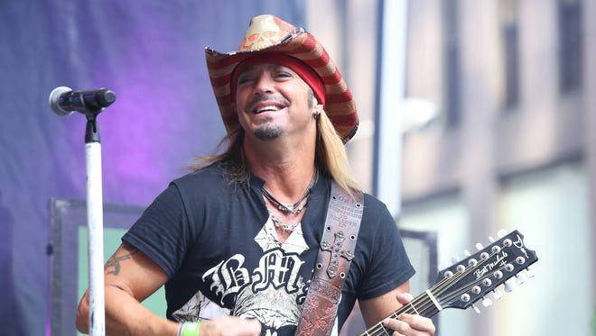 Bret Michaels will headline the Rock 103 40th anniversary concert at the BankPlus Amphitheater at Snowden Grove in Southaven on Saturday.