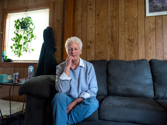 Linda Metz, 65, seen at home in Franklin on Friday, April 1, 2016, works part-time for the Franklin County Home Health Agency.