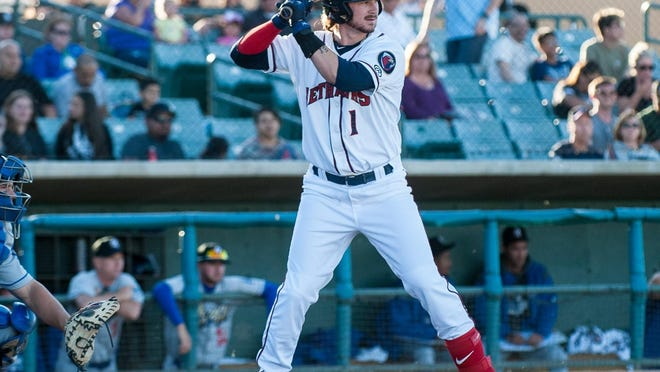 Lancaster JetHawks shortstop Brendan Rodgers leads the California League with a .404 batting average this season. Rodgers is a South All-Star.