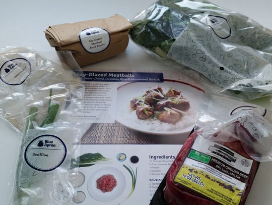 All of the ingredients to make Soy Glazed Meatballs.