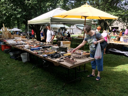 Shoppers can find all kinds of items at the annual Trash and Treasure community-wide yard sale in Cross Plains.