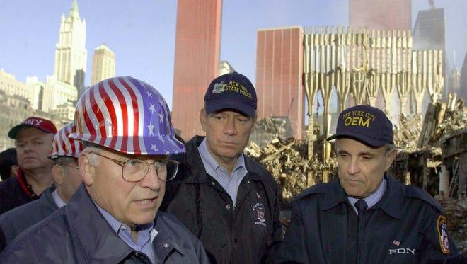 Vice President Cheney at Ground Zero on Oct. 18, 2001.