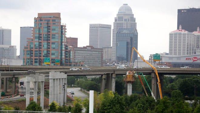 The Louisville skyline. May 17, 2015.