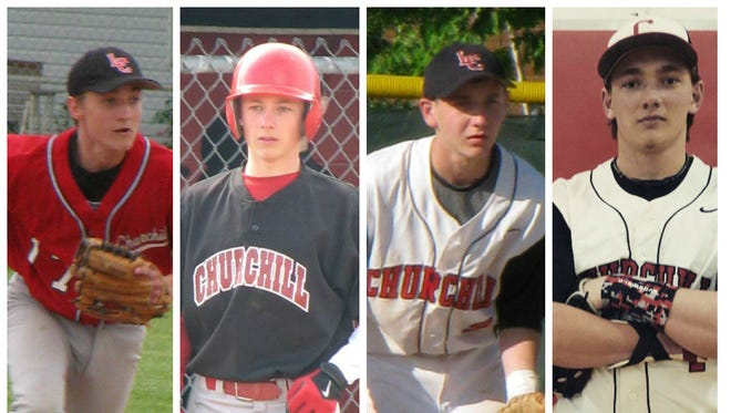 Pictured from left are baseball-playing Szymanski brothers Jimmy, Andy, Johnny and Steven.