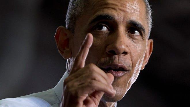 President Obama speaks at the University of Wisconsin at La Crosse on July 2, 2015.