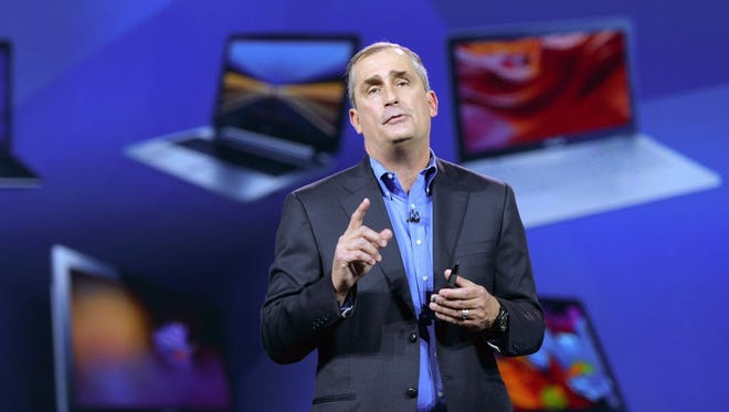 Head of semiconducter and computer chip manufacturer Intel, Brian Krzanich, speaks during the Intel Keynote at the 2015 International Consumer Electronics Show (CES) in Las Vegas, Nevada, USA, 06 January 2015.
