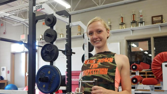 Pella High School's Samantha Hedrick, a member of Newton's girls' swimming team, is second in the state in the butterfly and the 500-yard freestyle.