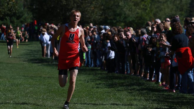 Medford's Jarod Rudolph breezes home to a first-place finish in the Division 1 race during the Smiley Invitational, Saturday, Sept. 19, in Wausau.