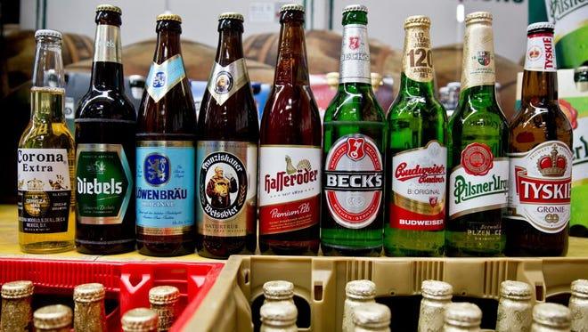 Anheuser-Busch InBev brands and SABMiller brands.