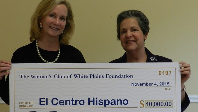 White Plains Woman's Club Event Chair Maryann Martin, left,  and Isabel Villar, executive director of El Centro Hispano