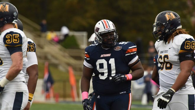 UTM defensive end Damani Taylor, a Westview grad, ranks fourth on the team in tackles with 45.