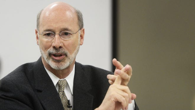 Gov. Tom Wolf is issuing a line-item veto the state budget and urging lawmakers to get back to the negotiating table.