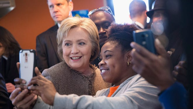 Hillary Clinton campaigns in Charleston, S.C., on Feb. 26, 2016.