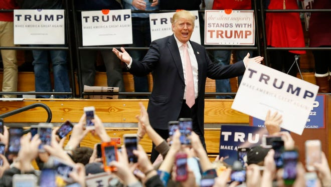 Donald Trump's rally Feb. 29, 2016, in Radford, Va.