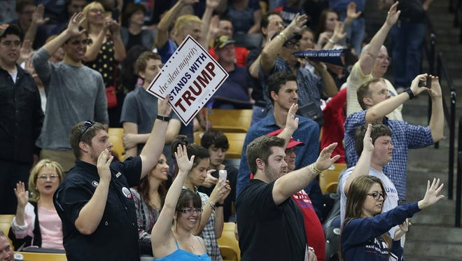 A Trump rally in Orlando on March 5, 2016.