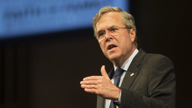 Former Florida Gov. Jeb Bush speaks at the Faith and Family Presidential Forum at Bob Jones University in Greenville, S.C., on Feb 12, 2016; when he was still a presidential candidate.