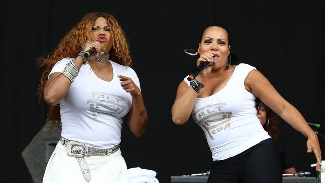 """Cheryl """"Salt"""" James, right, and Sandy """"Pepa"""" Denton will perform as Salt-N-Pepa on Dec. 10 at The Pavilion at The Centre of Tallahassee."""