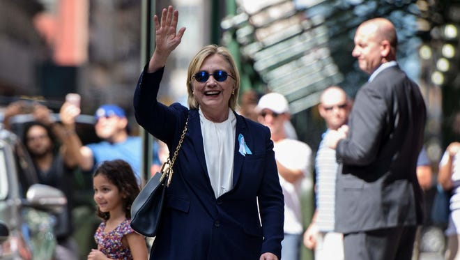 Hillary Clinton in New York City on Sept. 11, 2016.