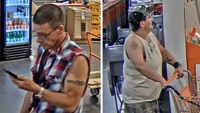Police are searching for suspects accused of using counterfeit money since May 2016.