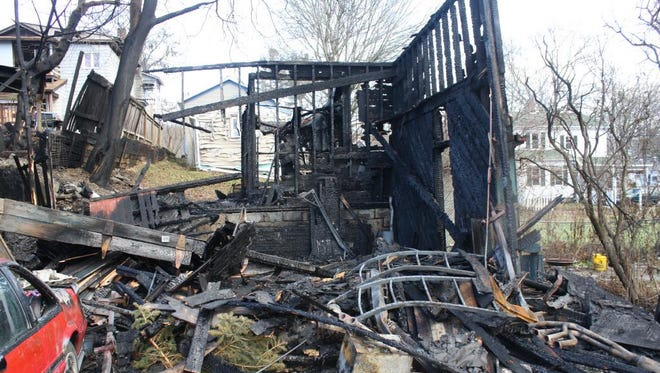 A shed on Spencer Avenue in Owego was destroyed in a Dec. 24, 2016 fire, Tioga County officials say.