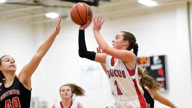 Secaucus sophomore guard Amanda Ulrich scored a career-high 33 points with five three-pointers as the Patriots defeated Lyndhurst, 73-50.