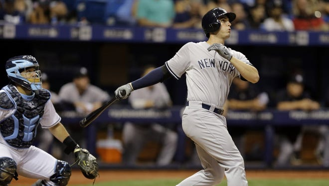 Greg Bird will face competition for first base, Yankees general manager Brian Cashman says.