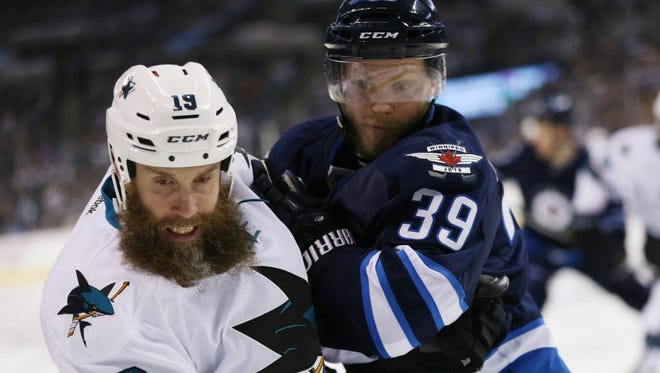 San Jose Sharks center Joe Thornton (19) recorded the 1,000th assist of his career on Monday.