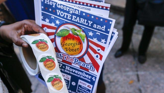 Early voting in Atlanta in October 2016.