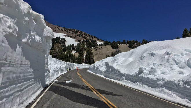 Efforts continue to clear snow from the road through Lassen Volcanic National Park. Park officials are working with the California Department of Transportation and hope to have the road open by late next week.