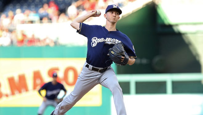 Zach Davies puts together arguably his best start of the season for the Brewers on Tuesday, pitching 7 2/3 innings shutout innings of three-hit ball against the Nationals in Washington, D.C.