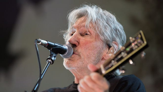 """Pink Floyd co-founder Roger Waters performs at the BMO Harris Bradley Center Saturday as part of his """"Us + Them"""" tour."""