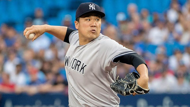 Yankees right-hander Masahiro Tanaka was placed on the disabled list Saturday with right shoulder inflammation.