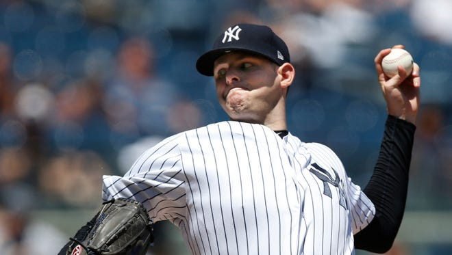 Yankees left-hander Jordan Montgomery was struck on the head during batting practice before Saturday's game at Yankee Stadium.