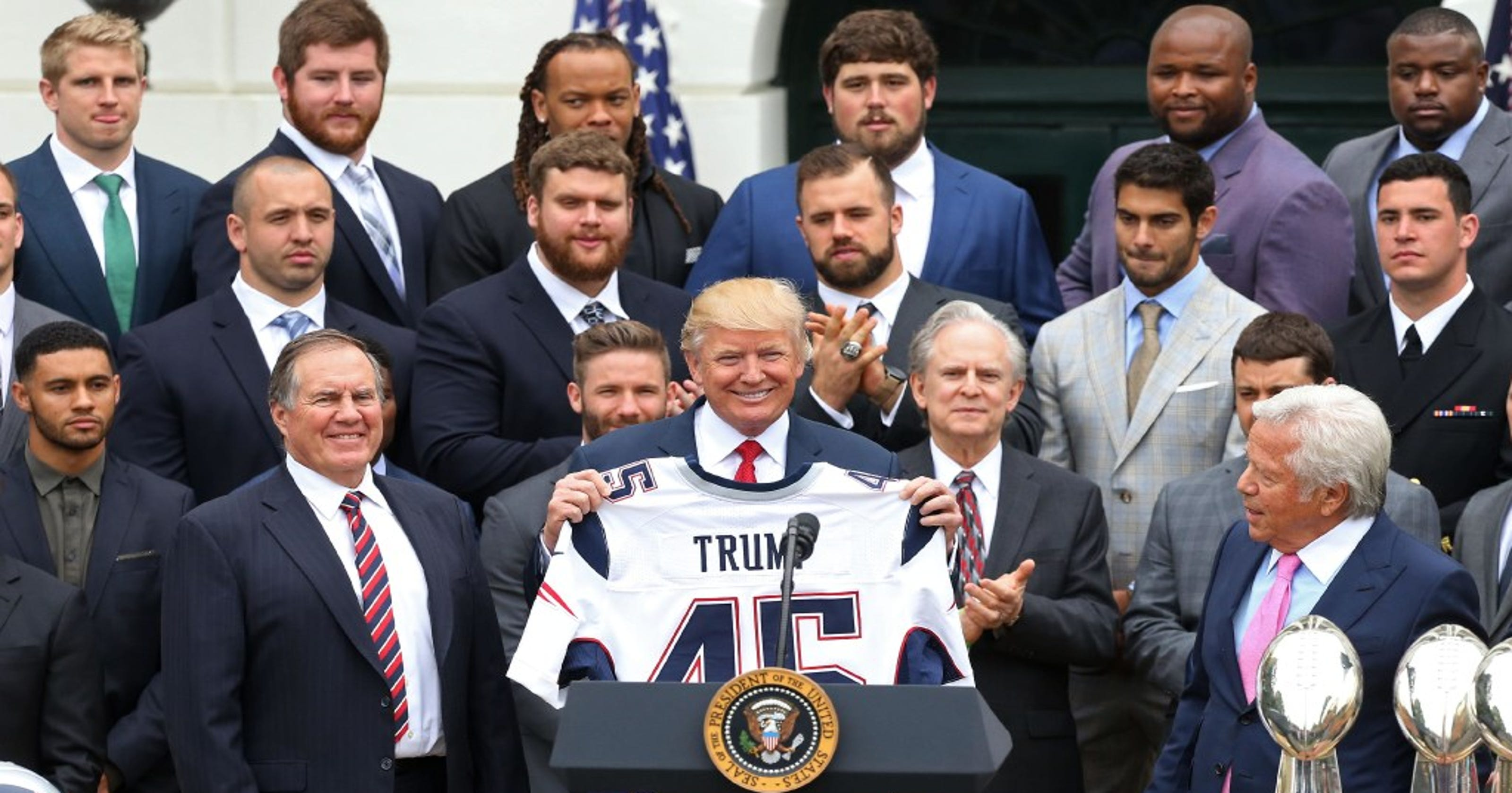 5185a812a Patriots gave President Trump Super Bowl ring as thank-you for White House  visit