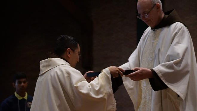 """The Rev. Zoilo """"Zoy"""" Garibay was officially installed as the new rector/president of St. Lawrence Seminary at a special Mass on the hill by the Rev. Michael Sullivan."""