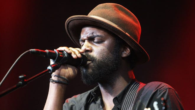 Gary Clark Jr. performs at the Riverside Theater on Wednesday.
