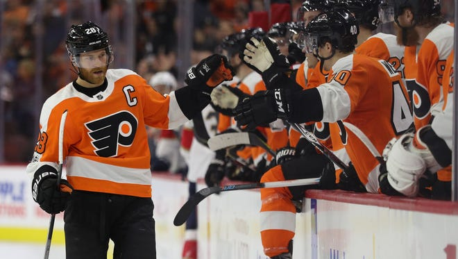 Claude Giroux and the Flyers are off to a much better start than usual and haven't disappeared in games like the past.