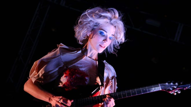 St. Vincent performs at the Riverside Theater Friday.