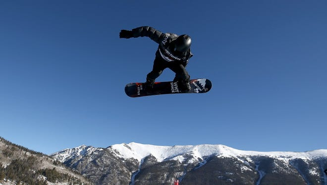 Shaun White competes in the finals of the snowboard World Cup halfpipe during the Toyota U.S. Grand Prix on Dec. 9, 2017 in Copper Mountain, Col.